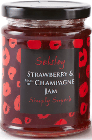 Selsley strawberry & champagne jam